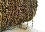 1.5m Bulk Square Link Cable Chain- Necklace Jewlery Making Supplies 4mm