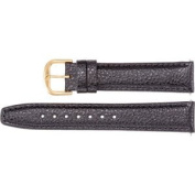 Mens Leather Textured Calf Semi-Padded Watch Strap