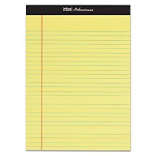 Office Depot(R) Brand Professional Legal Pad, 22cm . x 30cm ., Wide Ruled, 50 Sheets Per Pad, Canary, Pack Of 8 Pads