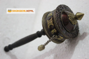 Tibetan Buddhist Om Mani Padme Hum Hand Prayer Wheel
