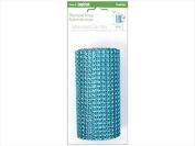Floracraft FLORS410 Floracraft Ribbon Diamond Wrap - Turquoise, 11cm . x 1.8m