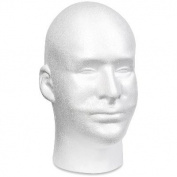 Styrofoam Head EPS Male Bulk-White