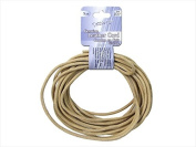 John Bead DAZ75102005-00 Dazzle It Leather Cord 3 Mm. Round 5 Yd., Natural - Pack Of 3