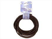 John Bead DAZ75102005-02 Dazzle It Leather Cord 3 Mm. Round 5 Yd., Brown - Pack Of 3