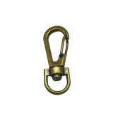 Tianbang Bronze 0.9cm Inside Diameter Oval Ring Lobster Clasp Claw Swivel for Strap Pack of 15