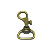 Tianbang Bronze 1.8cm Inside Diameter D Ring Lobster Clasp Claw Swivel for Strap Pack of 15