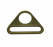 Tianbang Bronze Triangle Buckle String and Bandage Connector 3.8cm Oval Diameter Pack of 6