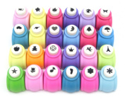 [Seovu~eru] THEOVEL colourful mini craft punch 24 pieces T0289