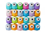 ShanTrip colourful 24 Quai mini craft punch set