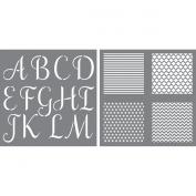 Initial Impressions Stencil 30cm x 30cm -Sophisticated