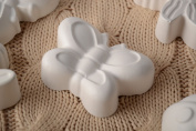 Volume handmade unpainted plaster craft blank for decoration Butterfly