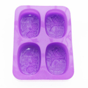 X-Haibei LOVE LIFE ROSE SOAP Rectangular Silicone Mould Candle Making for Homemade Craft