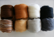 Extra Fine Merino Roving 120ml 8 Colours Critter Pack for Felting