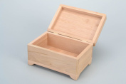 Handmade wooden jewellery box of middle size craft blank for decoration