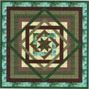 Tumbling Star/Green and Browns/Kona Bay/Quilt Kit