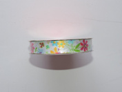CraftSmart 100% Polyester 1.6cm . x 2.7m Decorative Flower Pattern Ribbon - Great for Any Occasion!