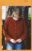 Knitting Pure & Simple Knitting Pattern 9725 Womens NeckDown Cardigan