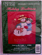 Holiday Traditions ~ Love Is the Light ~ Wearable / Cross Stitch