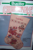 Country Christmas Stocking Cross Stitch Kit