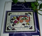 The More I Know of Men the More I Love My Cat Counted Cross Stitch Kit #012