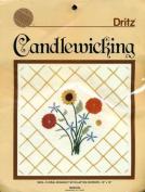 Dritz Candlewicking Kit, #9033 - Floral Bouquet with Lattice Border - 30cm x 30cm