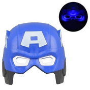 BST Party Decorations & Supplies Cool Luminous LED Captain America Mask for Halloween