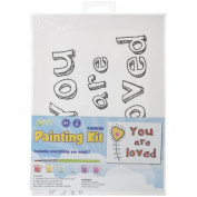 CP Stretched Canvas and Paint Kit 15cm x 20cm -You Are Loved