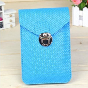 Aurora Universal Multifunctional PU Leather Mini Mobile Phone Bag Pouch/Purse with Shoulder Strap and Metal Button for iPhone 6 6+ plus 5 5S 5C iPhone 4 4S Samsung Galaxy Note4 Note3 Note2 S5 S4 S3 HTC and Other Mobile Phone