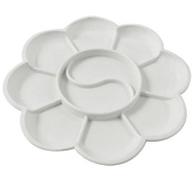 MassMall 10-Well Round Plastic Artist Paint Tray Palette