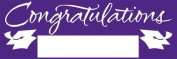 Pack of 6 Purple and White Giant Graduation Party Banners 1.5m