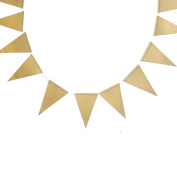 My Mind's Eye Trend Style Mini Triangle Flag Banner, 3m Long, Gold