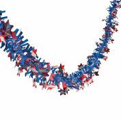 Patriotic Garland - 7.3m X 6.4cm - 4th of July Party Supplies