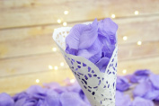 Lavender Silk Rose Petals Confetti for Weddings in Bulk by PaperLanternStore