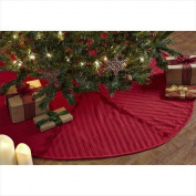 VHC Brands 21410 120cm . Classic Christmas Red Reverse Seam Tree Skirt