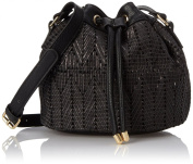 POVERTY FLATS by rian Woven Small Bucket Cross Body Bag