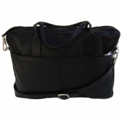 Piel Leather Top-Zip Portfolio