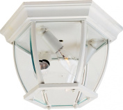 Maxim Lighting 1029WT Three Light Glass Outdoor Flush Mount, White