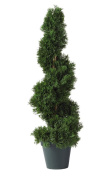 Nearly Natural 5160 Cedar Spiral Silk Tree Indoor/Outdoor, 0.6m, Green