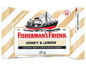 Fisherman's Friend Sugar Free Refreshing Honey & Lemon Flavour Cough Lozenges, 25g pack,
