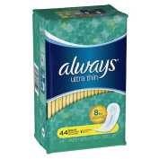 Always - Ultra Pads, Regular without Wings - 44 ea