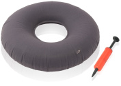 Dr. Frederick's Original Donut Cushion XL - 46cm Inflatable Ring Cushion - Comfortable Medical Pillow for Hemorrhoid Treatement, Bed Sores, Coccyx & Tailbone Pain, Pilonidal Cyst, Perineal Pain, Pregnancy, Child Birth, Prostatitis and More - Great for  ..
