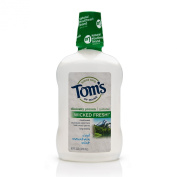 Tom's of Maine Long Lasting Wicked Fresh Mouthwash, Cool Mountain Mint, 470ml, 3 Count