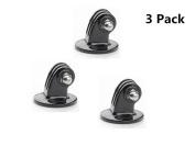 3Pack Tpfocus Black Tripod Mount Adapter for GoPro Camera HERO 1 2 3 3+