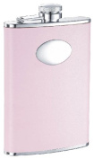 "Visol ""Daydream"" Leather Stainless Steel Hip Flask, 240ml, Pink"