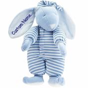 Personalised Sleepyhead Bunny - Blue - 38cm , CUSTOM NAME