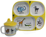 Baby Cie Jungle Friends Plate and Sippy Cup 2 Piece Set