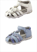 Baby Girl's 3d Flowers Sandals Shoes Two-tone Colour White or Blue Toddler Size