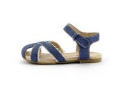 Girl's Closed Toe Sandal Toddler Shoes Velcro Strap Yellow & Denim Colour