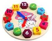 Digital Geometry Clock Children'S Educational Toy Wooden Blocks Toys For Kids