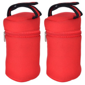 Unisex Insulated Tote Bags-Fits All Brands Bottles- 2 Red Carriers